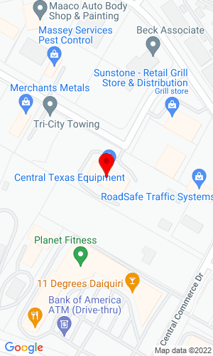 Google Map of Central Texas Equipment 1401 Central Commerce Circle, Pflugerville, TX, 78660