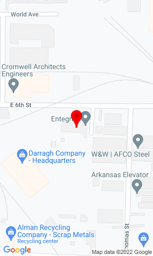 Google Map of Darragh Company 1401 East 6th Street , Little Rock, AR, 72202