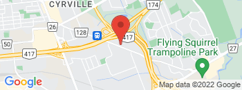 Google Map of 1401+A+Cyrville+Rd%2COttawa%2COntario+K1B+3L1