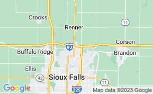 Map of Sioux Falls KOA