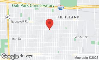 Map of 1402 Harvey Avenue Berwyn, IL 60402
