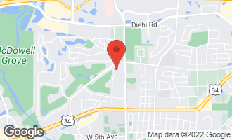 Map of 1404 North West Street NAPERVILLE, IL 60563
