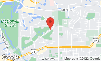 Map of 1404 Royal St. George Drive NAPERVILLE, IL 60563
