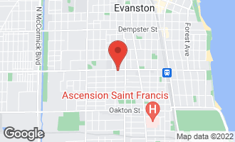 Map of 1406 Main Street EVANSTON, IL 60202