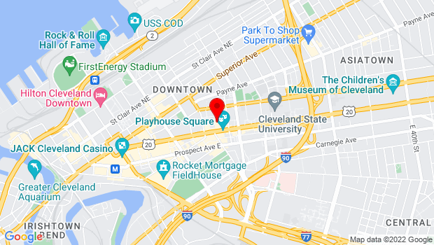 Google Map of 1407 Euclid Ave, Cleveland, OH 44113