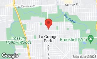 Map of 1409 Kemman Avenue LA GRANGE PARK, IL 60526