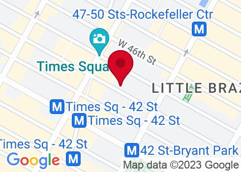 Hudson Theatre Google Maps Location