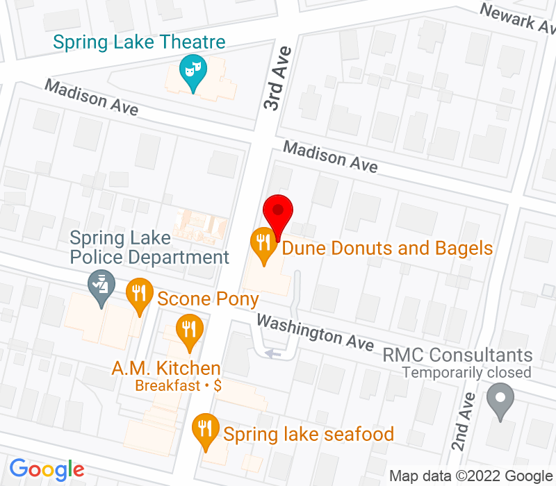 Click to view Google maps office address 1410 Third Avenue, Spring Lake, NJ 07762