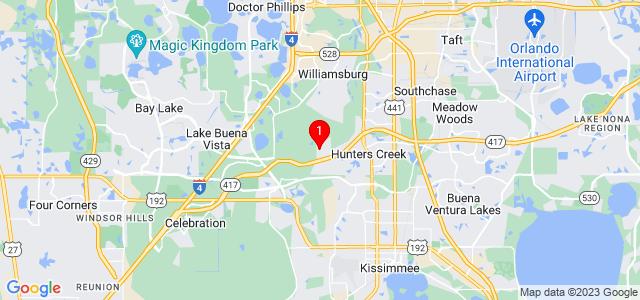 Google Map of 14104 Entrada Dr Orlando, FL, 32837