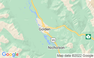 Map of Golden Municipal Campground