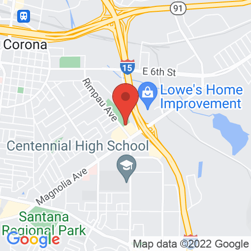 Google Map of 1411 Rimpau Ave, Corona, CA 92879