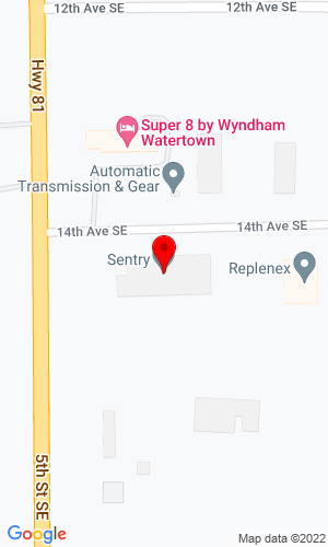 Google Map of Northern Truck Equipment Corp 1414 5th Street SE, Watertown, SD, 57201