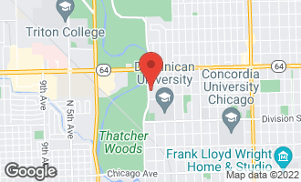 Map of 1415 Thatcher Avenue RIVER FOREST, IL 60305