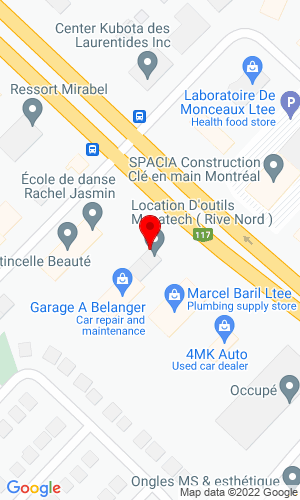 Google Map of Location d outils Mecatech 14160 Bl. Cure-Labelle , St Janvier Mirabel, Quebec, Canada, J7J 1L6