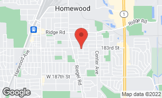 Map of 1417 183rd Street HOMEWOOD, IL 60430