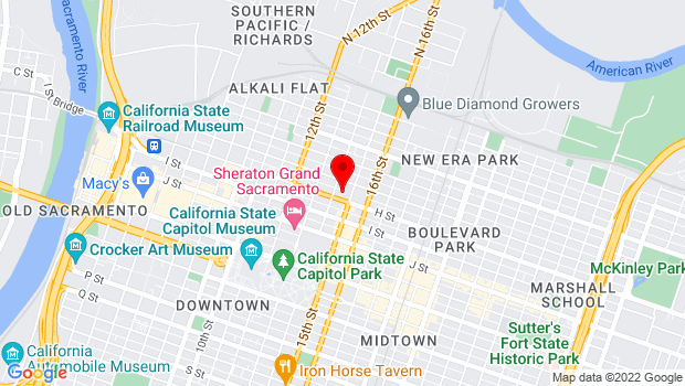 Google Map of 1419 H Street, Sacramento, CA 95814