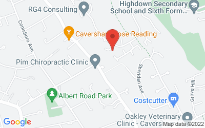 Map of 142 Kidmore Road, Caversham
