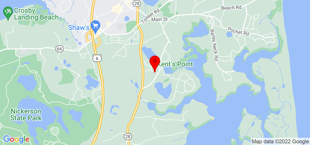 Google Map of142 Monument Road Orleans MA