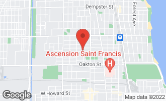 Map of 1421 Cleveland Street EVANSTON, IL 60202