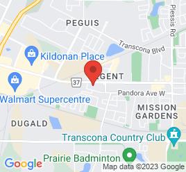 Google Map of 1424+Regent+Avenue+West%2CWinnipeg%2CManitoba+R2C+3A8