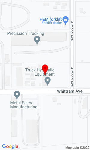 Google Map of Truck Hydraulic Equipment Company 14262 Whittram Ave , Fontana, CA, 92335