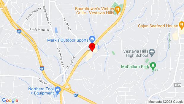 Google Map of 1429 Montgomery Hwy, Vestavia Hills, AL 35216