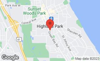 Map of 1430 Oakwood Avenue HIGHLAND PARK, IL 60035