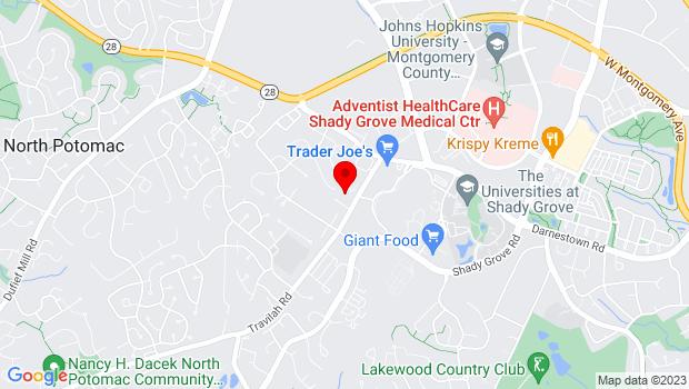 Google Map of 14330 Travilah Road Rockville MD