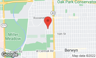 Map of 1434 Circle Avenue FOREST PARK, IL 60130