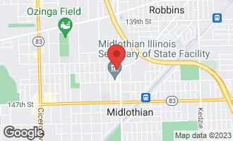 Map of 14349 Keystone Avenue MIDLOTHIAN, IL 60445