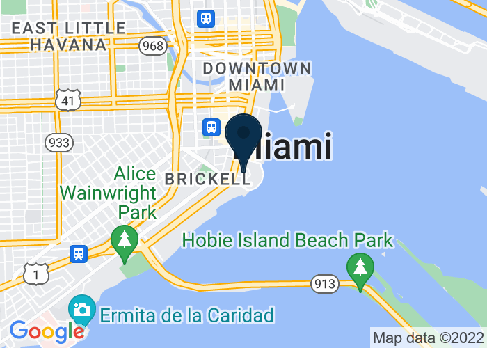 Map of 1435 Brickell Avenue, Miami, FL 33131, United States