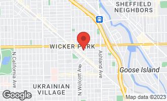 Map of 1435 North Elk Grove Avenue Chicago, IL 60622