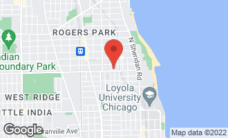 Map of 1436 West Pratt Boulevard 1W CHICAGO, IL 60626