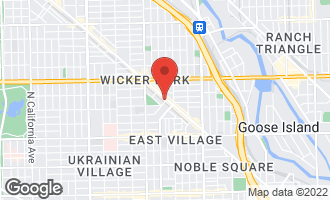 Map of 1438-42 North Milwaukee Avenue CHICAGO, IL 60622