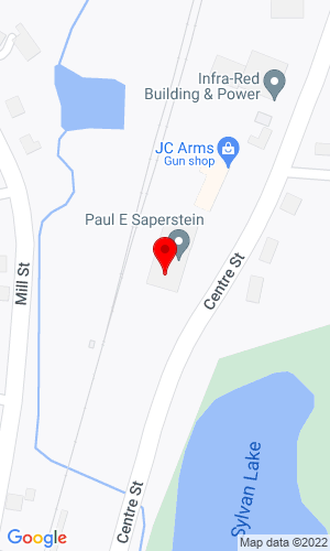Google Map of Paul E. Saperstein Co., Inc. 144 Centre Street, Holbrook, MA, 02343