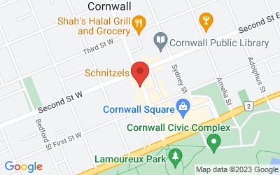 Map of Job Zone d'emploi Cornwall