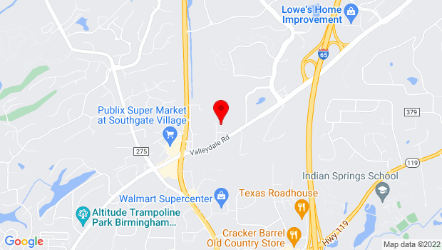 Google Map of 144 Business Center Drive, Birmingham, AL 35244