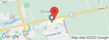 Google Map of 144+Queensway+East%2CSimcoe%2COntario+N3Y+4K8