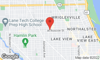Map of 1440 West Roscoe Street #2 CHICAGO, IL 60657