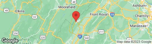 Map of 1443 ORKNEY BASYE, VA 22810