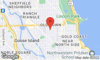 Map of 1444 North Cleveland Avenue #3 CHICAGO, IL 60610