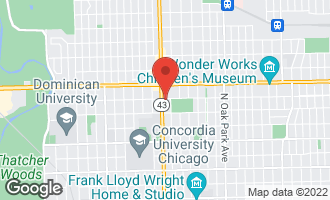 Map of 1445 North Harlem Avenue A OAK PARK, IL 60302