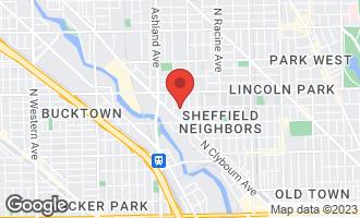Map of 1445 West Belden Avenue 1C CHICAGO, IL 60614