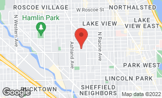 Map of 1445 West Wolfram Street CHICAGO, IL 60657