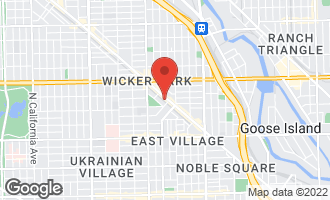 Map of 1448 North Milwaukee Avenue CHICAGO, IL 60622