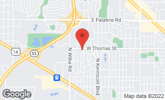 Map of 1448 North Yale Avenue ARLINGTON HEIGHTS, IL 60004