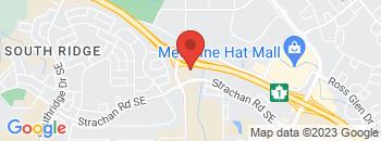 Google Map of 1450+Strachan+Road+SE%2CMedicine+Hat%2CAlberta+T1B+4V2