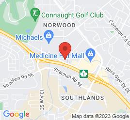 Google Map of 1450+Trans+Canada+Way+SE%2CMedicine+Hat%2CAlberta+T1B+4M2