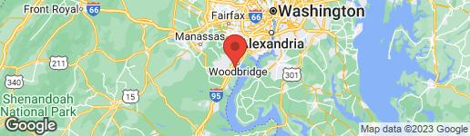 Map of 14514 Jefferson Davis Highway Woodbridge, VA 22191