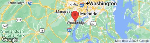 Map of 14520 Jefferson Davis Hwy Woodbridge, VA 22191